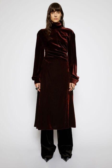 Acne velvet dress