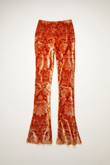 Acne velvet trousers